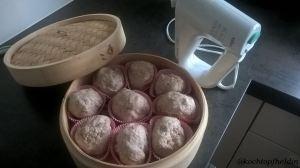 Kokosbrötchen vorher