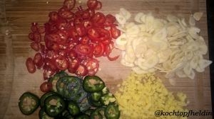 Zutaten Zucchini-Chutney